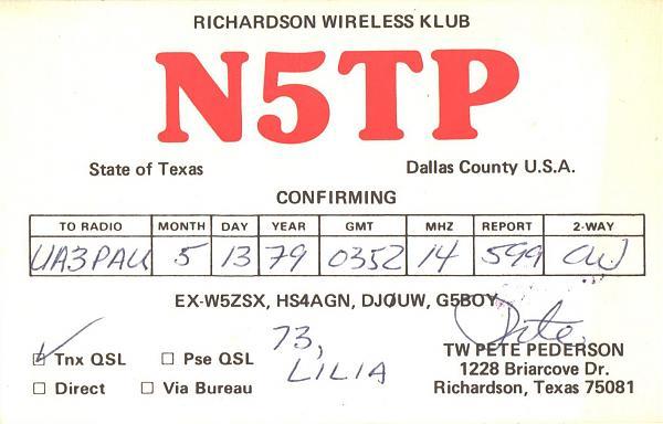 Нажмите на изображение для увеличения.  Название:N5TP-UA3PAU-1979-qsl.jpg Просмотров:2 Размер:301.0 Кб ID:287518
