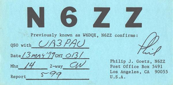 Нажмите на изображение для увеличения.  Название:N6ZZ-UA3PAU-1979-qsl.jpg Просмотров:2 Размер:376.6 Кб ID:287520