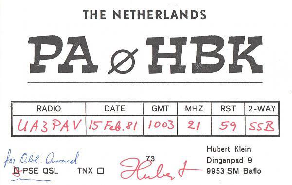 Нажмите на изображение для увеличения.  Название:PA0HBK-UA3PAV-1981-qsl.jpg Просмотров:2 Размер:309.4 Кб ID:287536