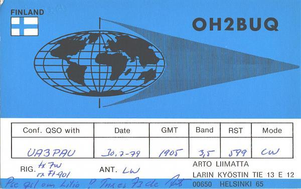 Нажмите на изображение для увеличения.  Название:OH2BUQ-UA3PAU-1979-qsl.jpg Просмотров:2 Размер:1.35 Мб ID:287662