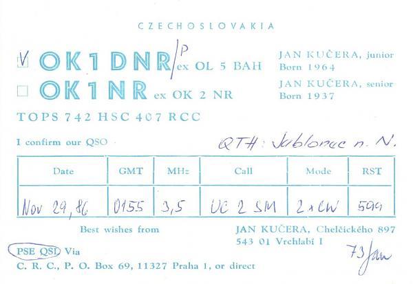 Нажмите на изображение для увеличения.  Название:OK1DNR_p-UC2SM-1986-qsl.jpg Просмотров:2 Размер:375.8 Кб ID:287689