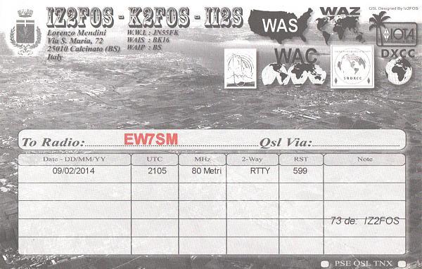 Нажмите на изображение для увеличения.  Название:IZ2FOS-EW7SM-2014-qsl-2s.jpg Просмотров:2 Размер:898.6 Кб ID:287818