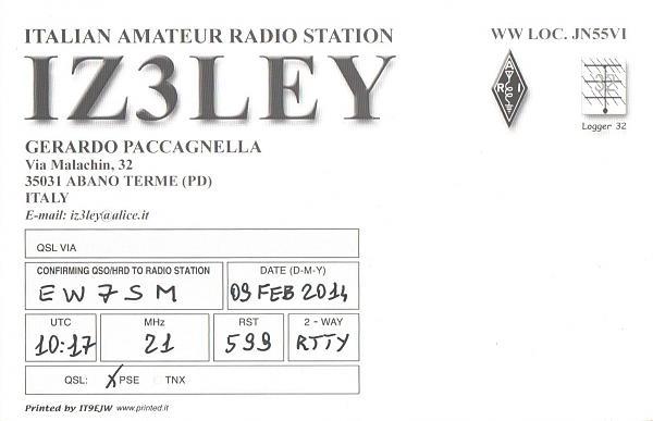 Нажмите на изображение для увеличения.  Название:IZ3LEY-EW7SM-2014-qsl-2s.jpg Просмотров:2 Размер:287.4 Кб ID:287820