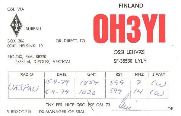 Нажмите на изображение для увеличения.  Название:OH3YI-UA3PAU-1979-qsl.jpg Просмотров:2 Размер:262.5 Кб ID:287855