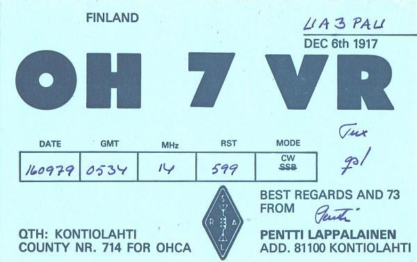 Нажмите на изображение для увеличения.  Название:OH7VR-UA3PAU-1979-qsl.jpg Просмотров:2 Размер:358.0 Кб ID:287857