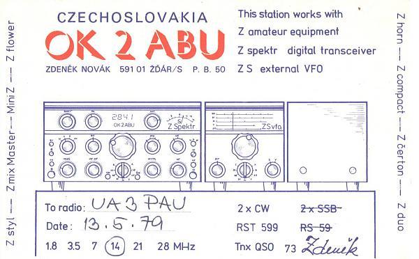 Нажмите на изображение для увеличения.  Название:OK2ABU-UA3PAU-1979-qsl.jpg Просмотров:2 Размер:366.1 Кб ID:287942