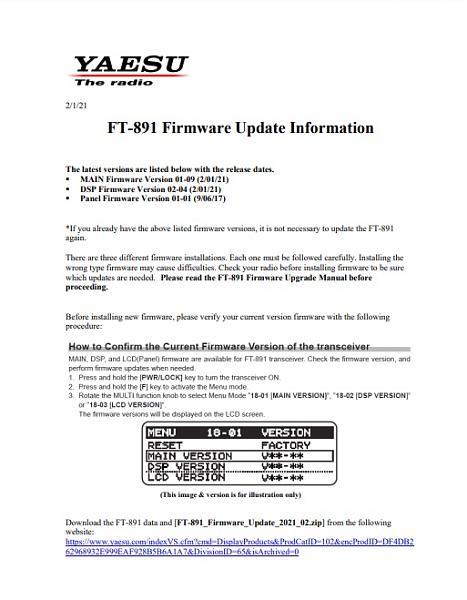 Нажмите на изображение для увеличения.  Название:FT-891_Firmware_Update_2021_02.jpg Просмотров:14 Размер:86.3 Кб ID:297709