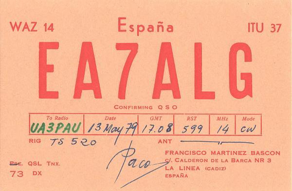 Нажмите на изображение для увеличения.  Название:EA7ALG-UA3PAU-1979-qsl.jpg Просмотров:2 Размер:394.0 Кб ID:303253