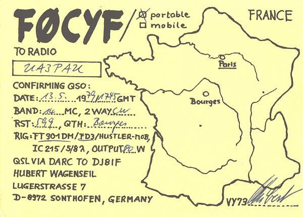 Нажмите на изображение для увеличения.  Название:F0CYF-UA3PAU-1979-qsl.jpg Просмотров:2 Размер:443.6 Кб ID:303254