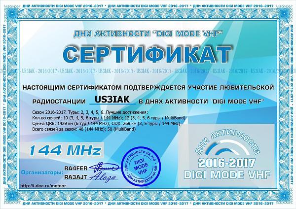 Нажмите на изображение для увеличения.  Название:US3IAK Сертификат за &#1.jpg Просмотров:3 Размер:375.8 Кб ID:303989