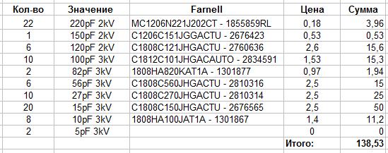 Название: SMD_caps_LPF_Farnell.png Просмотров: 1788  Размер: 10.5 Кб