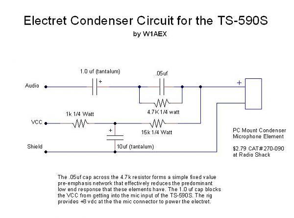 Нажмите на изображение для увеличения.  Название:electret_circuit.jpg Просмотров:253 Размер:43.6 Кб ID:62543
