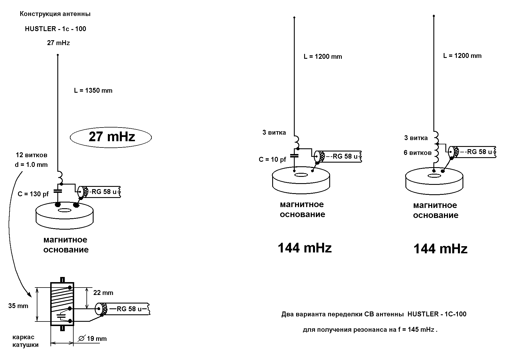 3) От трансивера 27 МГц сигнал