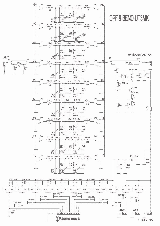 Аналогичную схему использует Александр UR4QBP с перекрытием от 160м до 17м.  В предлагаемом варианте.