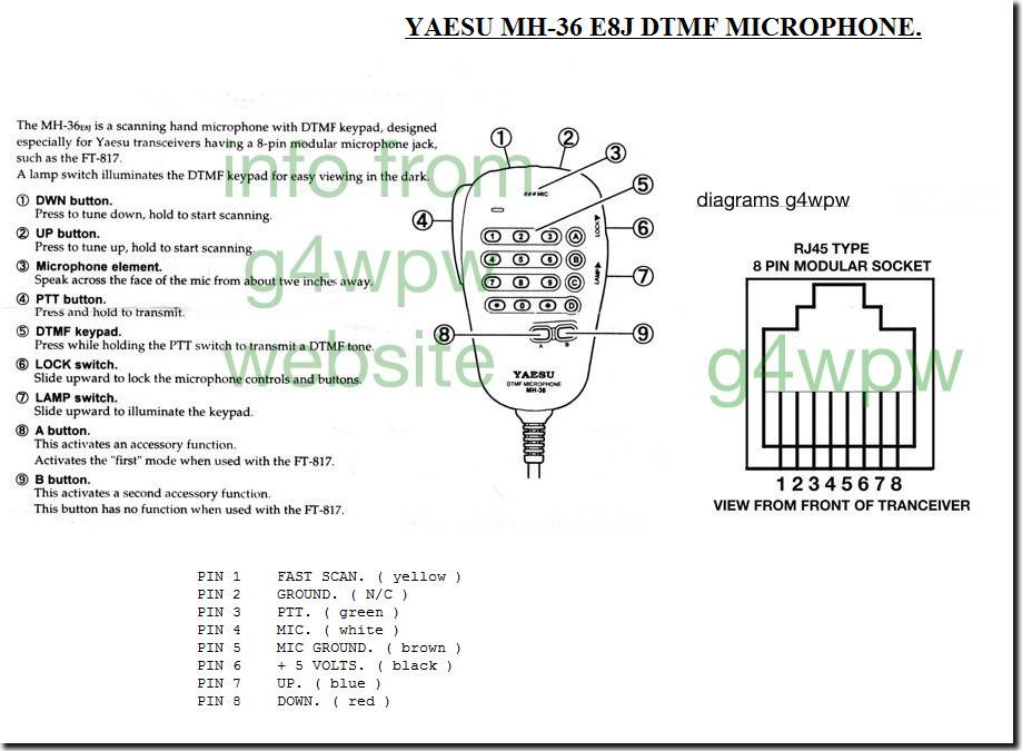 Схема микрофона MH-36E8J