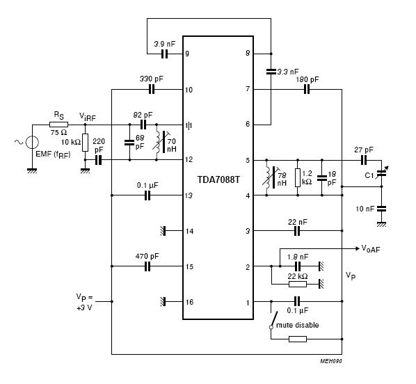Вопрос по схеме TDA7088T.