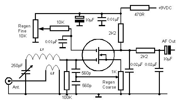 Он...  Катушка L1 состоит из 30 витков изолированного провода...  В качестве транзистора можно использовать...