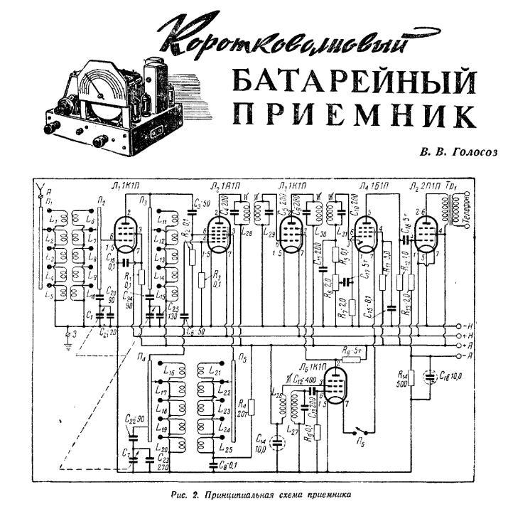 Схема лампового укв радиоприемника