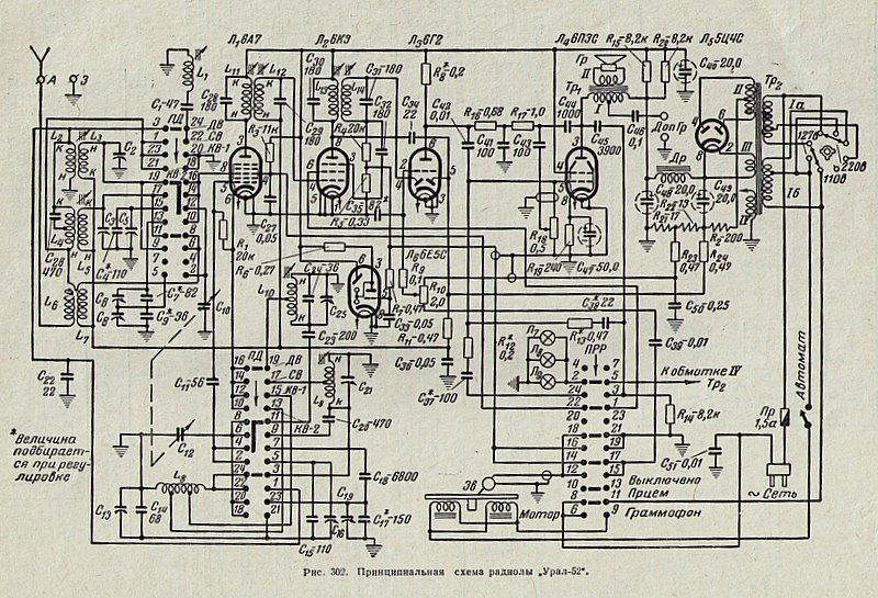 радиола урал 111 схема