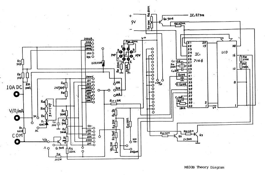 Ищу схему мультиметра DT-830