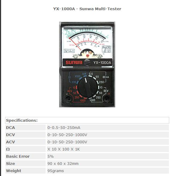 Ищу схему тестера YX-1000A