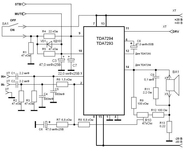 как сделать чтобы тда 7294 можно было включать в мост - База схем.