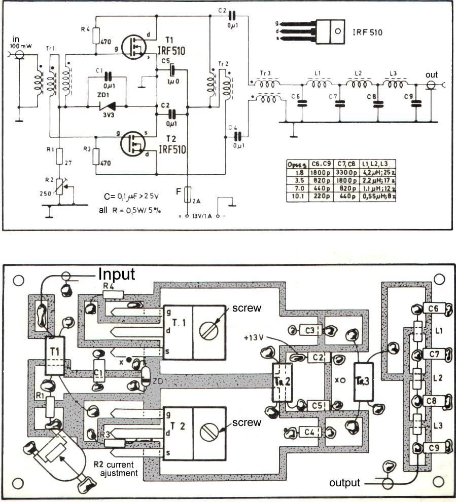 кв усилитель IRF840