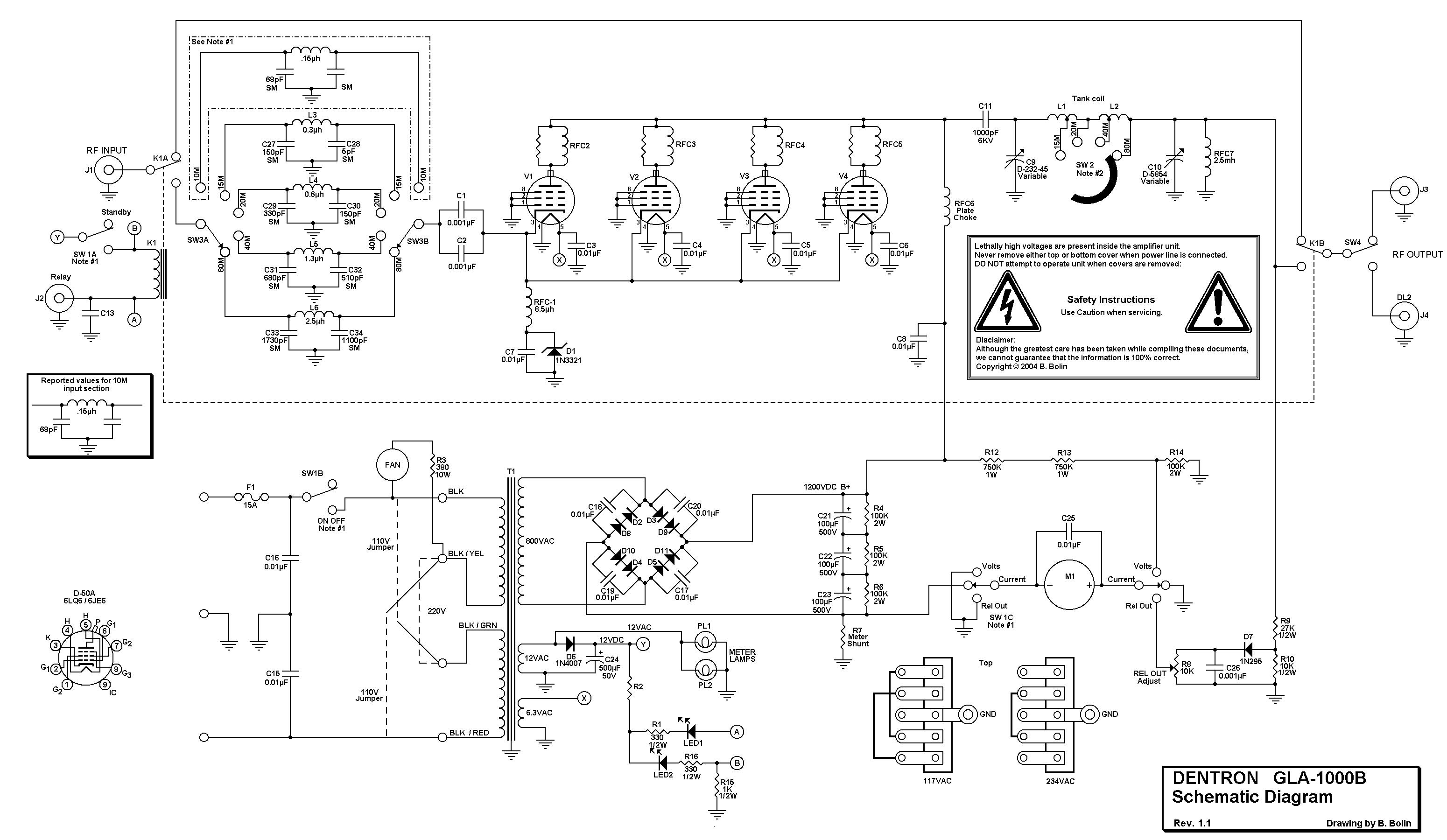 Схема усилитель кв мощности на гу 50